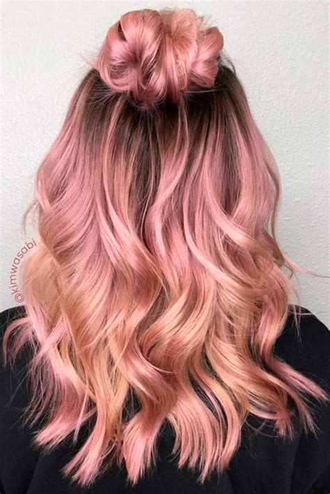is rose gold haircolor the same as strawberry blonde haircolor 18 rose gold hair color trends gold hair colors rose