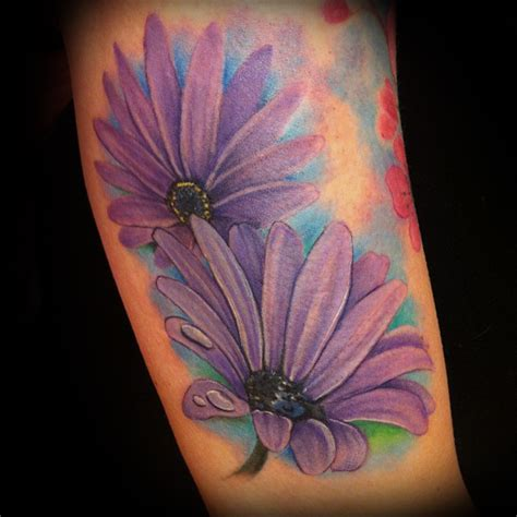 purple cross tattoo color theory lombard il colortheorytattoo