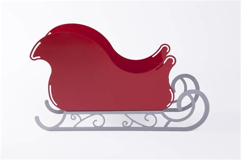 large santa sleigh with scroll base rose metal products inc