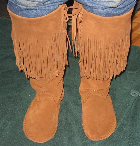 American Handmade Boots - plains style boot moccasins handmade by cherokeelodge on etsy