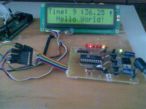 avrprojects home avr clock lcd