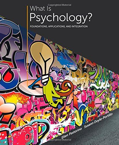 what is psychology foundations applications and integration books cheapest copy of what is psychology foundations