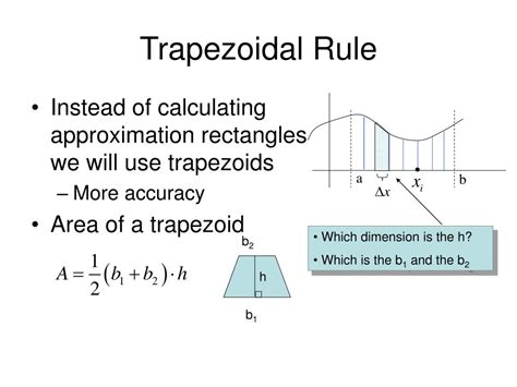 trapezoidal section ppt chapter 4 section 4 6 numerical integration