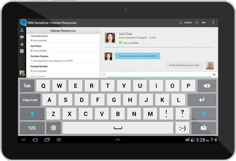 chat app for android ibm developerworks lotus inside mobile design and user experience