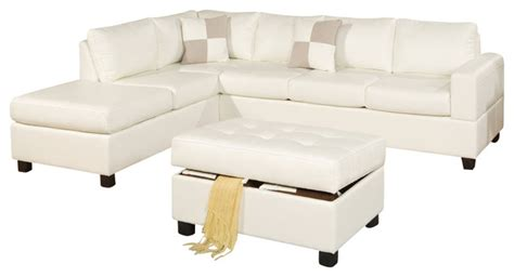 cream bonded leather sofa poundex f7354 cream bonded leather living room sectional