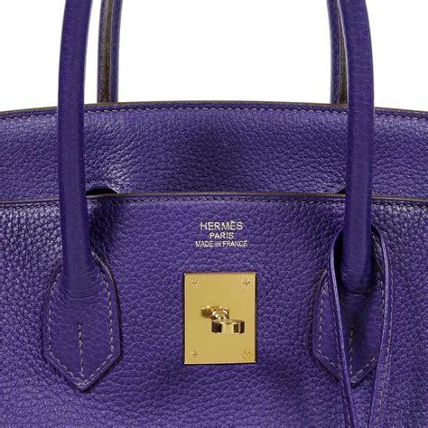 Hermes Clemence Ultimate herm 232 s iris purple clemence leather birkin bag 35 cm ghw