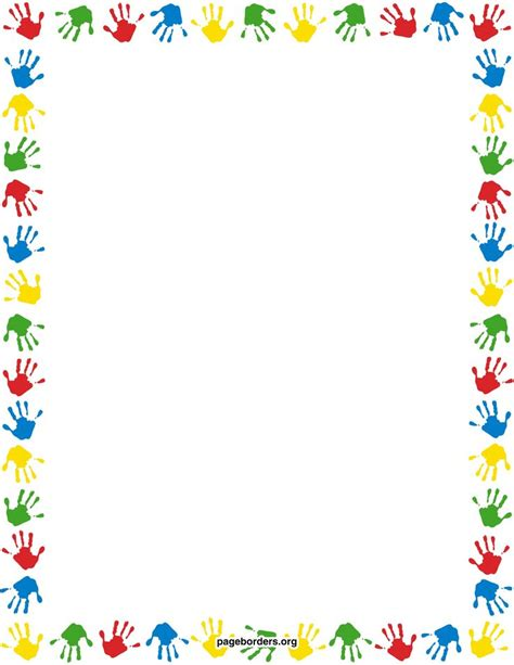 handprint calendar 2010 template search results for handprint border template calendar 2015