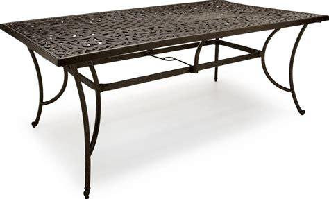 Strathwood St Thomas Cast Aluminum Rectangular Patio Rectangular Patio Tables