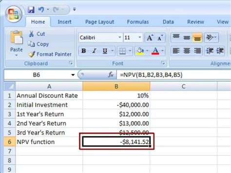 excel comfort systems how to calculate npv in excel 9 steps with pictures