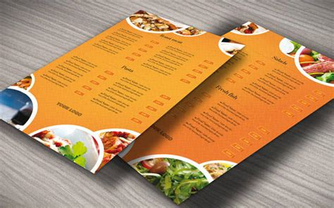 custom menu template custom food menu template by r3generaldesigns on envato studio