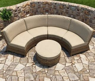 Modern Wicker Sectional Outdoor Sofa Sets Curved Outdoor Sofa Curved Outdoor Patio Furniture
