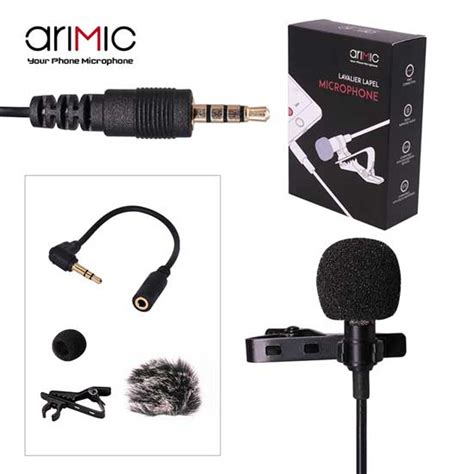 jual ulanzi arimic lavalier microphone harga  spesifikasi