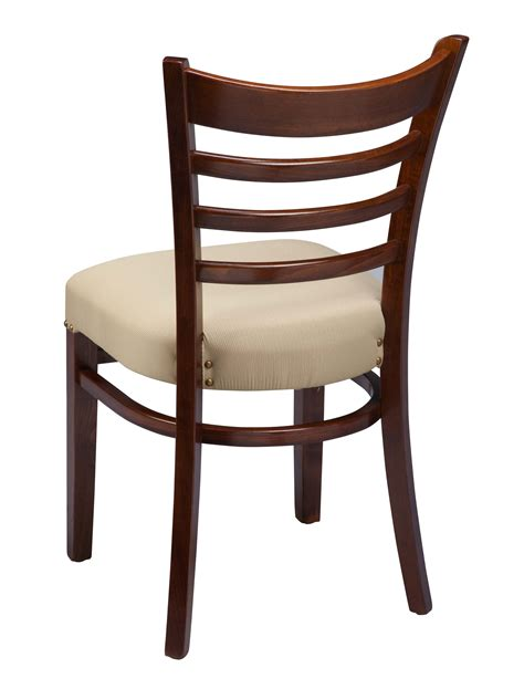 Wooden Ladder Back Kitchen Chairs regal 412fus ladder back wood kitchen chair chairs by braniff barstools