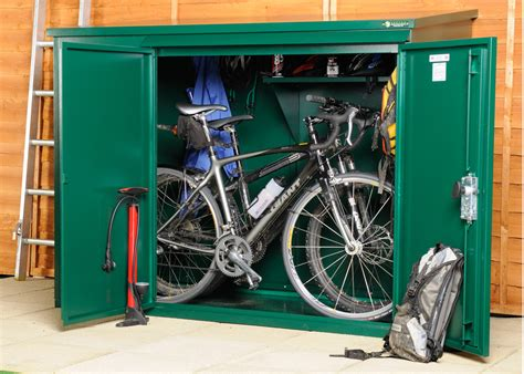 3 Bike Storage Shed metal bike shed for 3 bikes cycle sheds from asgard