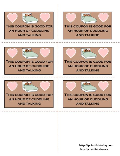 valentines for him delivered printable coupons notes