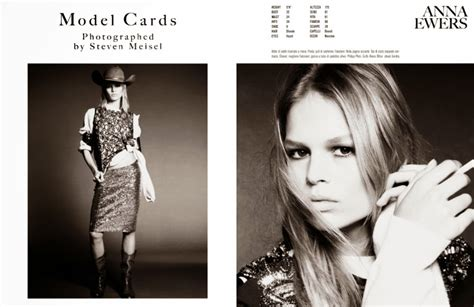 model card vogue italia model cards the style watcher