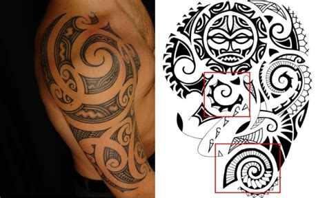 Tatto Vorlagen Muster polynesische maori tattoos bedeutung der tribalsmotive