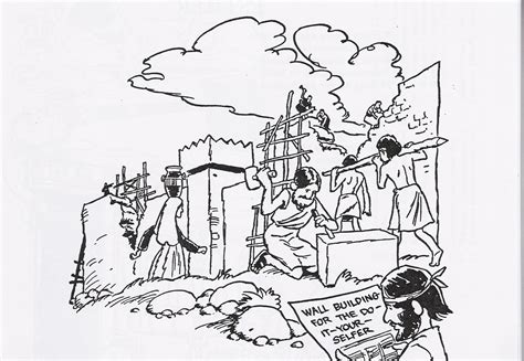 coloring page for nehemiah free coloring pages of nehemiah wall