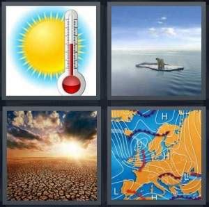 hot wind 7 letters 4 pics 1 word answer for temperature melt desert
