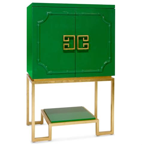 Gold Bar Cabinet Bombay Regency Green Lacquer Gold Bar Cabinet Kathy Kuo Home