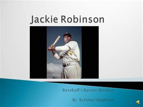 jackie robinson baseball card template jackie robinson authorstream