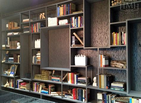 modern custom bookshelf contemporary living room new