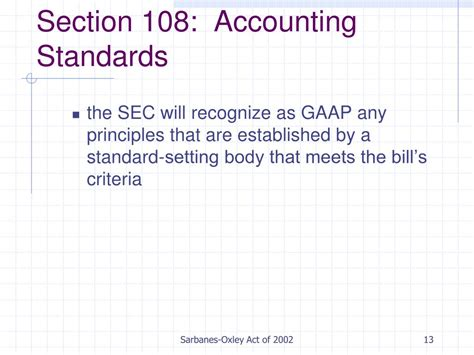 Audit Section Of Cpa by Ppt Sarbanes Oxley Act Of 2002 Powerpoint Presentation