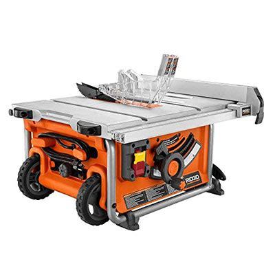 portable table saw ratings ridgid r4516 portable jobsite table saw review tool nerds