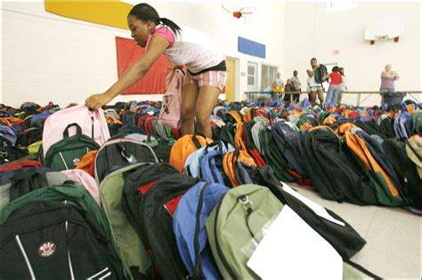 Salvation Army School Supply Giveaway - toledo salvation army helps students get ready for school toledo blade