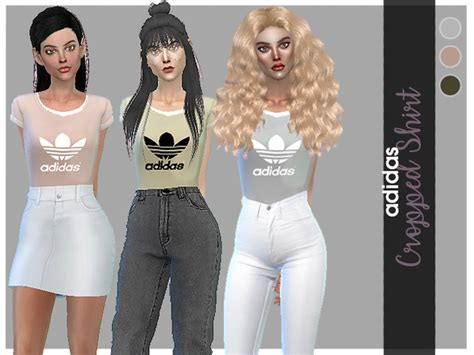 tsr sims 4 clothes sports cosimetics adidas cropped shirt