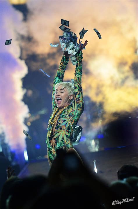 Performs In Orlando by Miley Cyrus Performs At Bangerz Tour Amway Center In