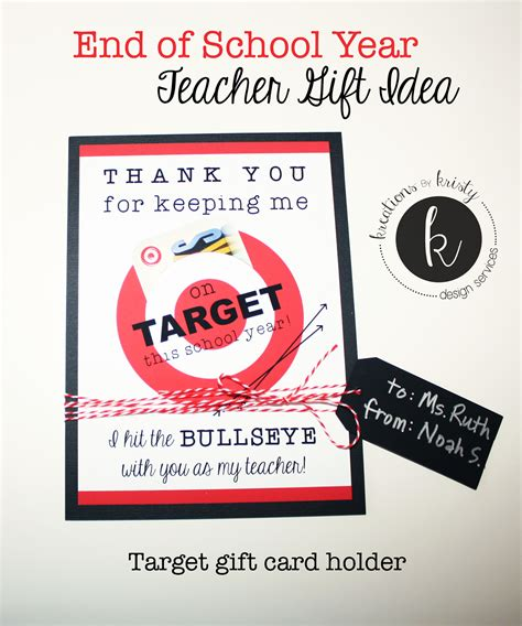 Target Gift Card Ideas - end of the year gift ideas for teachers just b cause