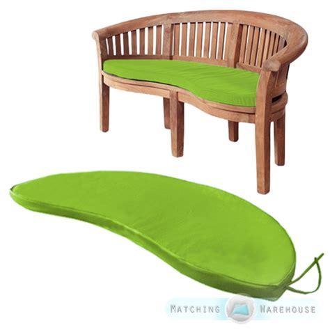 seat pads for garden benches banana peanut bench waterproof garden cushion pads moon