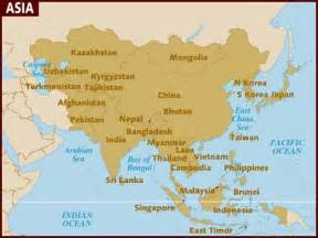 Where Is Asia On The Map by Map Of Asia