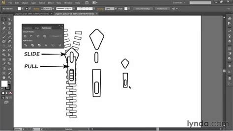 zipper tutorial illustrator creating a zipper pull symbol