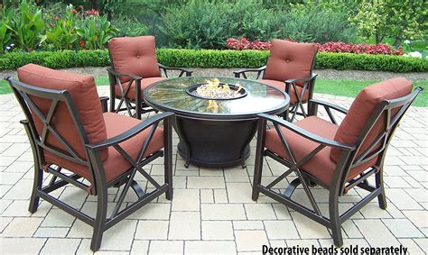 Firepit Chairs Oakland Living Moonlight Gas Firepit Table With Pit Chairs Lowes Only Wonderful