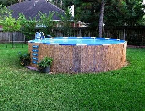 backyard above ground pool landscaping ideas above ground pool landscape designs crafty in crosby