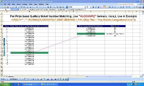 vlookup tutorial numbers prize bond lottery ticket serial search after draw use
