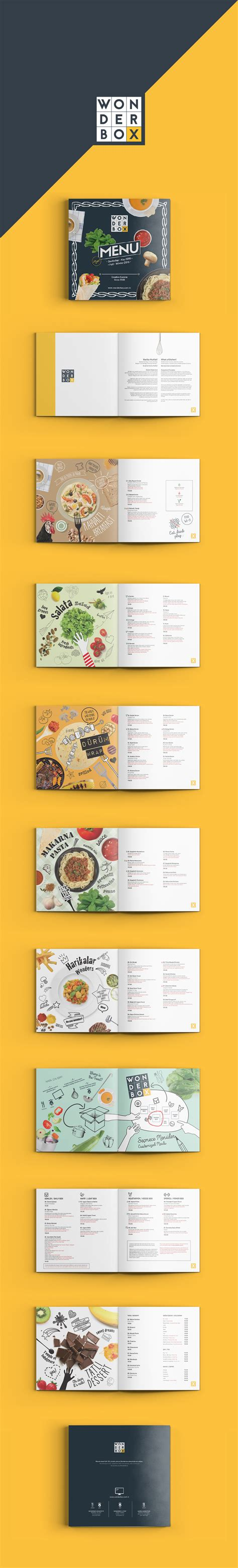wonderbox cuisine wonderbox creative cuisine menu on behance