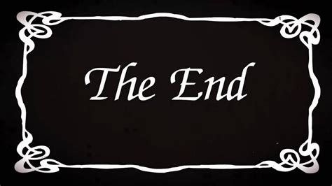 film it is the end quot the end quot silent film ending silent film history