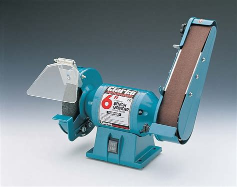 clarke bench grinder clarke cbg6sb 6 quot bench grinder with sanding belt clarke