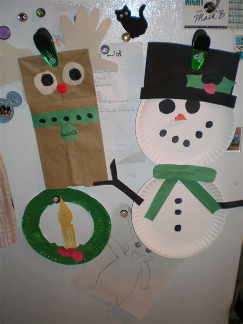 paper bag snowman craft preschool crafts