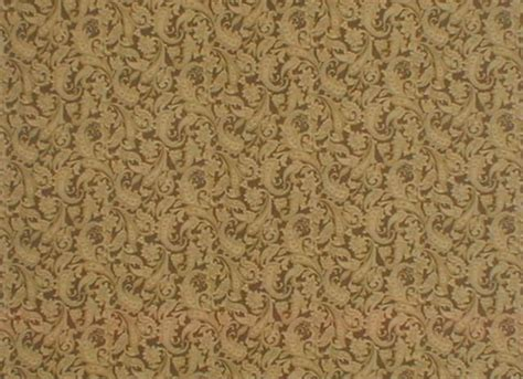 Brown Quilting Fabric by Gold Paisley On Brown Cotton Quilting Fabric By Benartex Fabrics