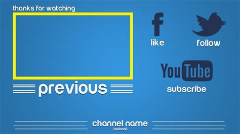 outro template 3 happy clean free photoshop download