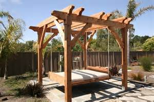 Backyard Discovery Hanging Pergola Swing Pergola And Swing Bed