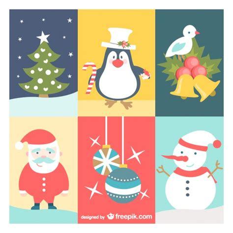 imagenes de navidad vector conjunto de dibujos de navidad vintage descargar