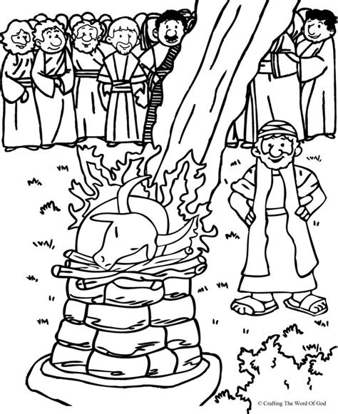 Elijah And The Prophets Of Baal Coloring Page free coloring pages of elijah and ahab