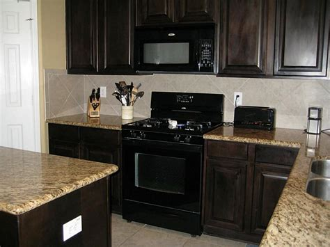 kitchen ideas with black appliances espresso kitchen cabinets with black appliances kitchen cabinet