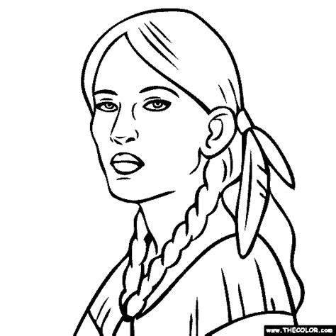 Sacagawea Coloring Page Online Coloring Pages Starting With The Letter S
