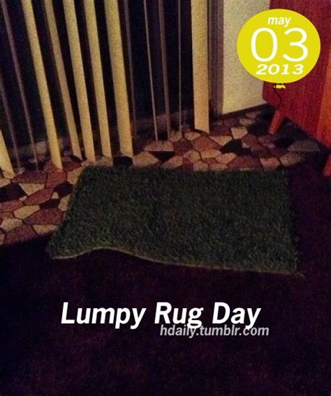 lumpy rug national lumpy rug day may 3 what s happening today rugs and chang e 3